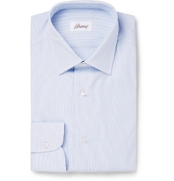 Blue Striped Cotton Shirt by Brioni in Ricki and the Flash