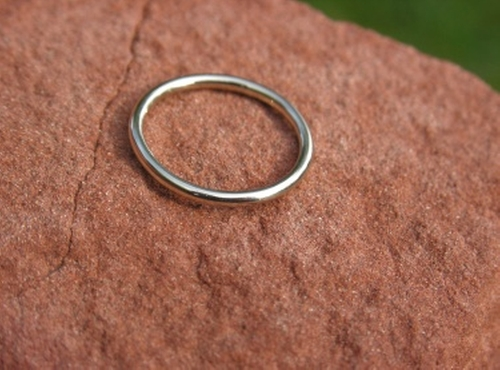 Thin Full Round Wedding Band Ring by Cococlimb in Secret in Their Eyes