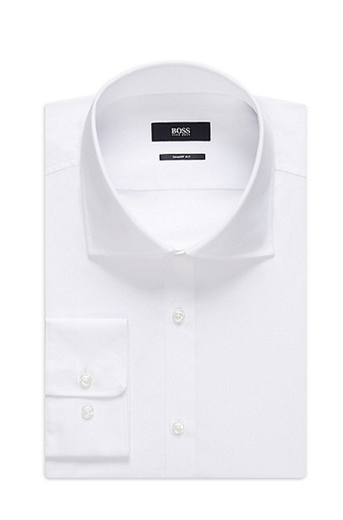 'Miles Us' Spread Collar Cotton Dress Shirt by Boss Hugo Boss in A Very Murray Christmas