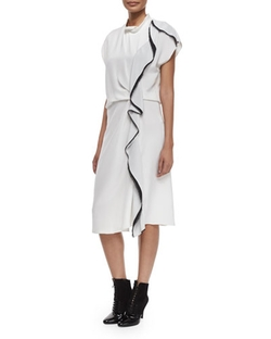 Distorted Ruffle Silk Dress by 3.1 Phillip Lim	 in Suits