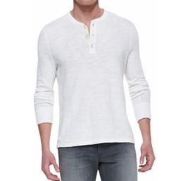 Slub-Knit Basic Henley Shirt by Rag & Bone in Empire