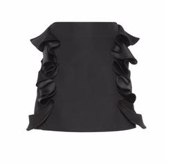 Ruffled Cotton-blend Miniskirt by Victoria Victoria Beckham in Fuller House