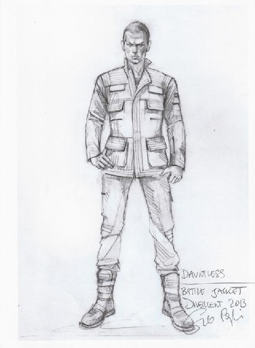 Custom Made 'Dauntless' Battle Uniform by Carlo Poggioli (Costume Designer) in Divergent