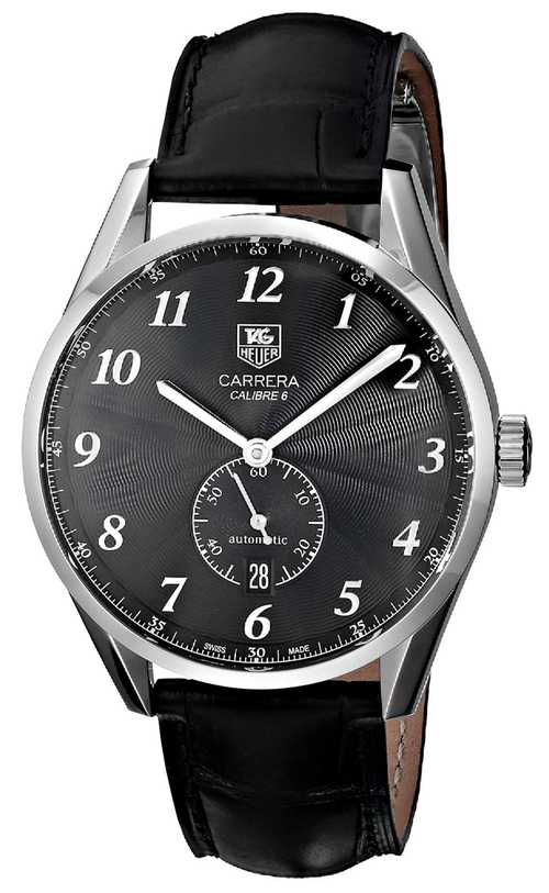 Carrera Black Leather Strap Watch by TAG Heuer in Shutter Island