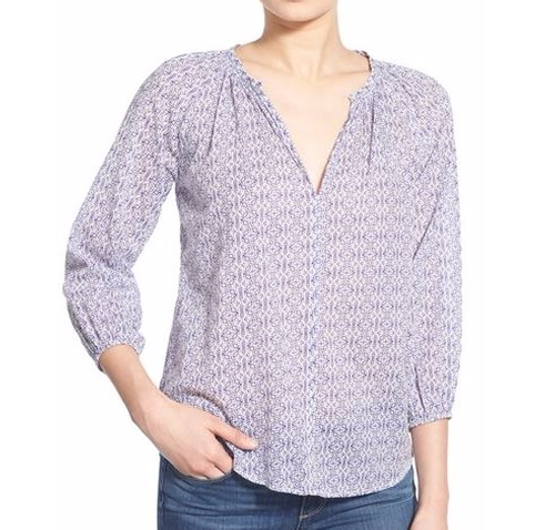 Cotton Voile Peasant Blouse by Velvet by Graham & Spencer  in The Good Place - Season 1 Episode 5