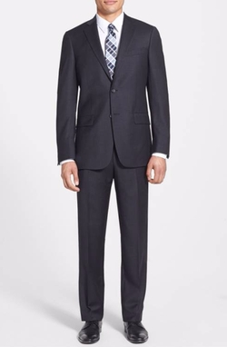 New York Classic Fit Wool Suit by Hart Schaffner Marx in The Commuter