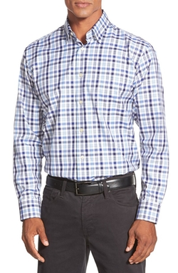 'Anderson' Classic Fit Plaid Sport Shirt by Robert Talbott in Scandal