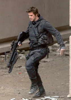 Custom Made Battle Suit (Gale Hawthorne) by Kurt and Bart (Costume Designer) in The Hunger Games: Mockingjay - Part 2