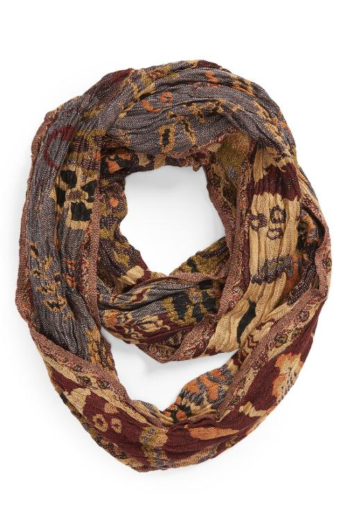 By Joseph Floral Stripe Infinity Scarf by Chelsey in New Year's Eve