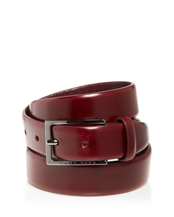 Ceddys Hand-Brushed Leather Belt by Hugo Boss in Scream Queens