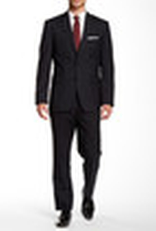 Two Button Notch Lapel Wool Suit by Vince Camuto in Victor Frankenstein