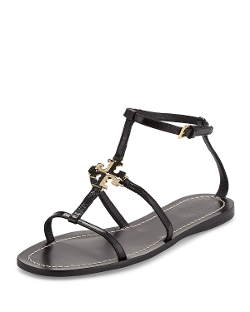 Lowell Logo Flat Thong Sandals by Tory Burch in The Second Best Exotic Marigold Hotel