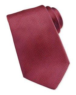 Solid Woven Silk Tie by Ermenegildo Zegna in Entourage