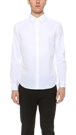 Sylvain Solid Dress Shirt by Theory in Bridge of Spies