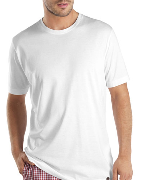 Cotton Crewneck Tee Shirt by Hanro in Furious 7