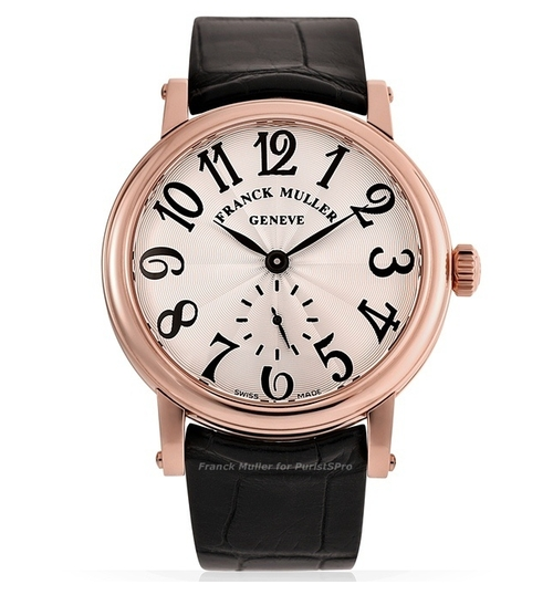 Classic Round Leather Strap Watch by Franck Muller in Elementary - Season 4 Episode 13