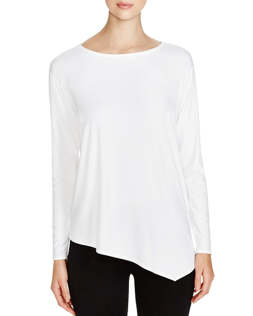Asymmetric Boat Neck Top by Eileen Fisher in Keeping Up With The Kardashians - Season 11 Episode 9