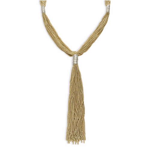 Multi-Row Tassel Necklace by Design Lab Lord & Taylor in The Boss
