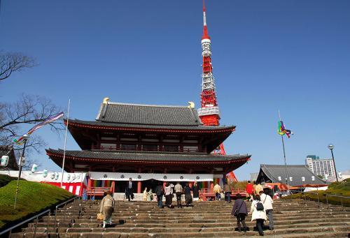 Zojo-ji Temple Tokyo, Japan in The Wolverine