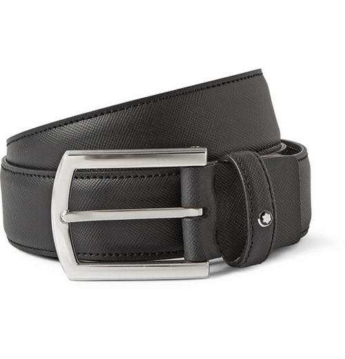 Textured-Leather Belt by Montblanc in 99 Homes