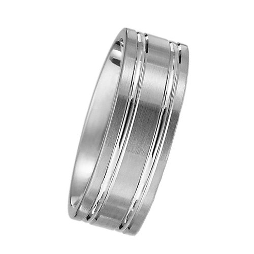 White Gold Wedding Band by Oromi in Pitch Perfect 2