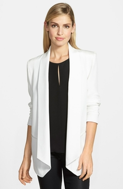 'Becky' Long Tuxedo Blazer by Rebecca Minkoff in Quantico