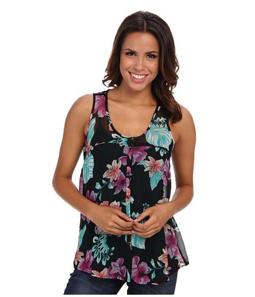 Floral Print Georgette Tank Top by Roper in We're the Millers