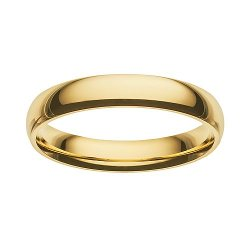 Gold-Over-Stainless Steel Wedding Band by Cherish Always in While We're Young