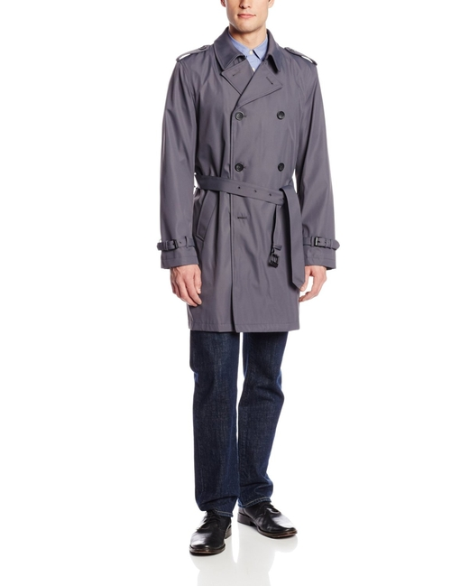 Men's Pelin Double Breasted Belted Trench Coat by Kenneth Cole New York in The Loft