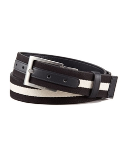 Black Reversible Web-Leather Belt by Bally in Jurassic World