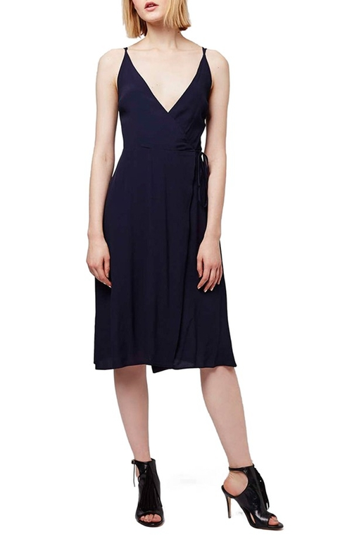 Midi Length Wrap Slipdress by Topshop  in Fuller House