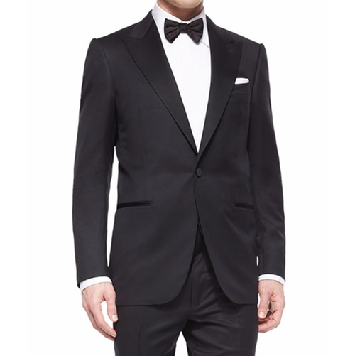 Peak-Lapel One-Button Wool Tuxedo by Ermenegildo Zegna in Suits