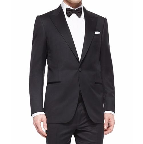 Peak-Lapel One-Button Wool Tuxedo by Ermenegildo Zegna in Suits - Season 6 Episode 9
