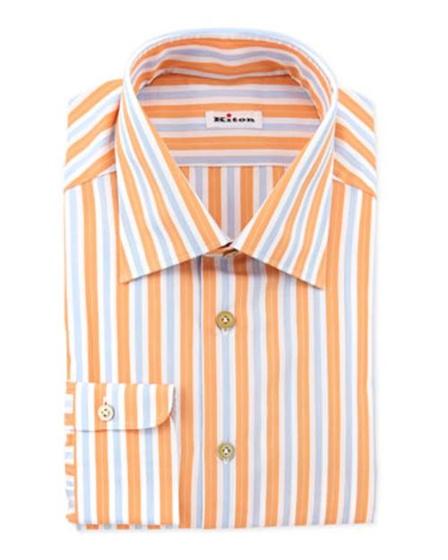 Track-Stripe Dress Shirt by Kiton in Laggies