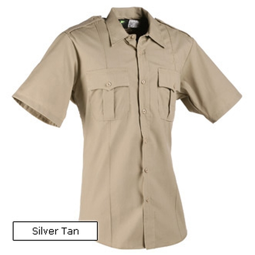 Small New Dimension Short Sleeve Stretch Poplin Shirt by Horace in Neighbors