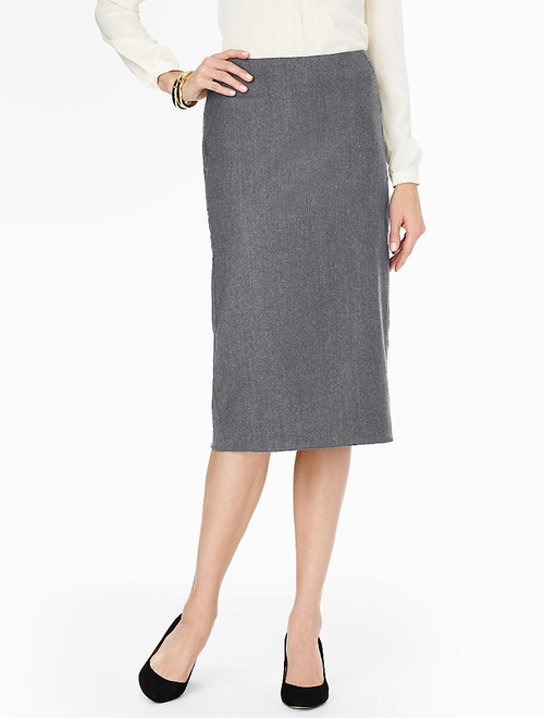 Italian Flannel Pencil Skirt by Talbots in Suits
