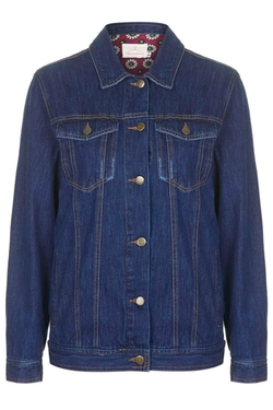 Tassel Back Denim Jacket by Native Rose in Master of None