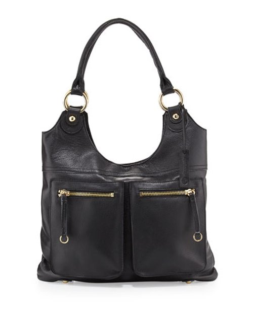Dylan Front-Pocket Leather Tote Bag by Linea Pelle in Crazy, Stupid, Love.