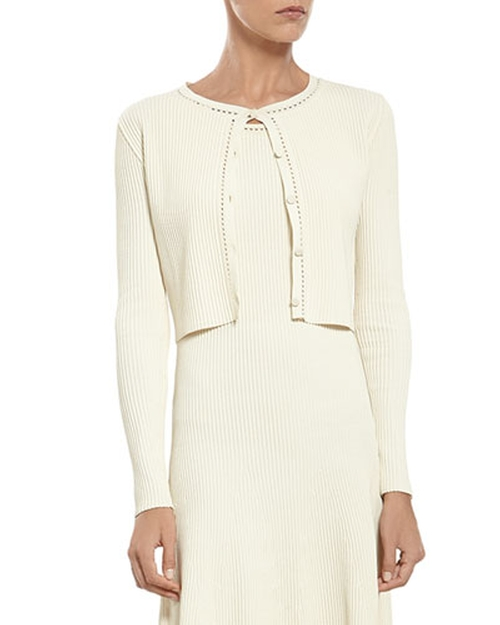 Pearl Viscose Crop Cardigan by Gucci in Empire