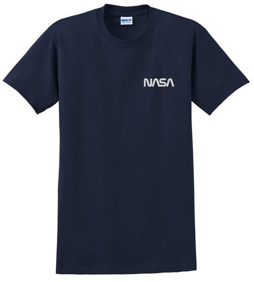 NASA Worm Logo Embroidered T-Shirt by Spiffy Custom Gifts in The Martian