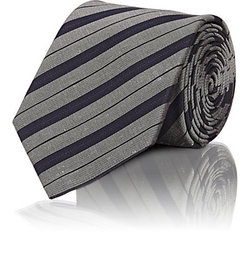 Shantung-Striped Necktie by Lanvin in Suits