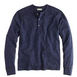 Slim Flagstone Marled Henley by J.Crew in Ride Along