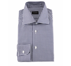 Gingham Check Twill Dress Shirt by Ermenegildo Zegna in Ballers