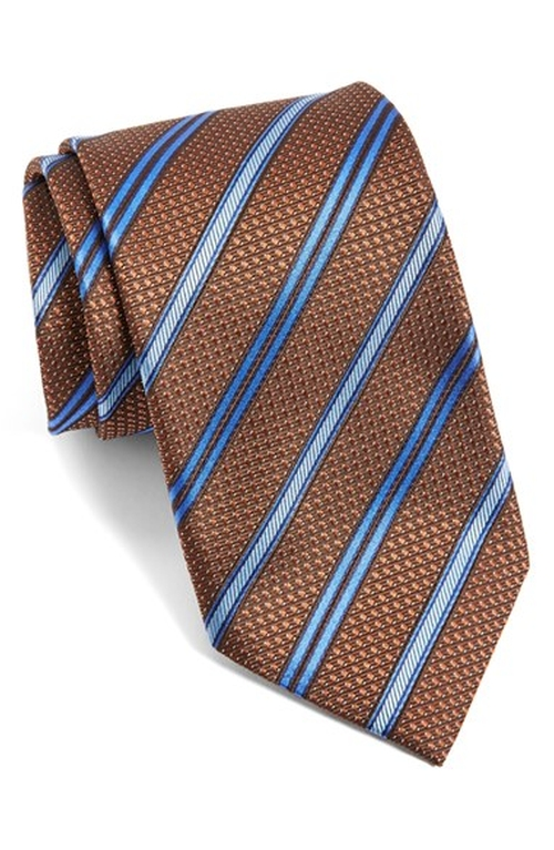 Stripe Silk Tie by Canali in The Good Wife - Season 7 Episode 3