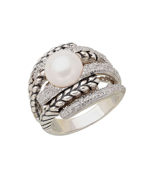 Sterling Silver Pearl Ring by Lord & Taylor in The Good Wife - Season 7 Episode 15