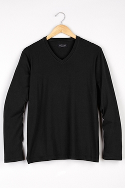 Smokey Jersey Classic V-Neck Tee by Velvet in Ballers