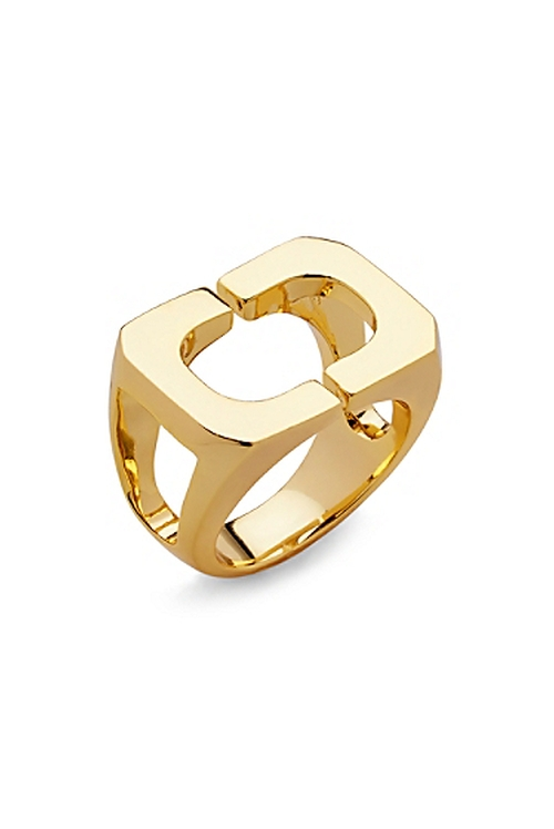 Geometric Link Gold Ring by Diane Von Furstenberg in Pretty Little Liars - Season 6 Episode 9