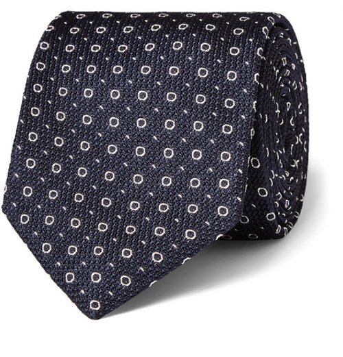 Patterned Woven-Silk Tie by Drake's in Kingsman: The Secret Service