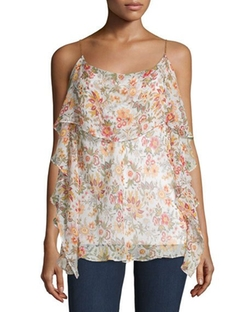 Talk To Me Floral-Print Top by Bailey 44  in Into the Forest