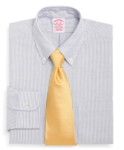 Traditional Fit Stripe Dress Shirt by Brooks Brothers in Fight Club